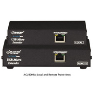 Black Box KVM Extender, VGA, USB HID, CATx, Single Access ACU4001A
