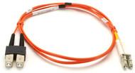 Black Box 1m (3.2ft) SCLC OR OM2 MM Fiber Patch Cable INDR Zip OFNR EFN6021-001M