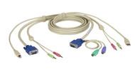 Black Box KVM CABLE VGA, PS/2, USB, AUDIO, DT PRO SERIES, 9FT EHN7002021-0009