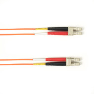 Black Box 1m (3.2ft) LCLC OR OM2 MM Fiber Patch Cable INDR Zip OFNR FOCMR50-001M-LCLC-OR