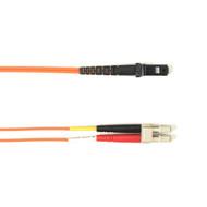 Black Box 1m (3.2ft) LCMTRJ OR OM1 MM Fiber Patch Cable INDR Zip OFNR FOCMR62-001M-LCMT-OR