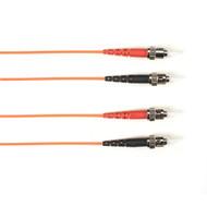 Black Box 1m (3.2ft) STST OR OM1 MM Fiber Patch Cable INDR Zip OFNR FOCMR62-001M-STST-OR