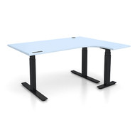 "Adjustable Height 60""x48"" Right Ergonomic Office Desk"