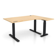 "Adjustable Height L-Shaped Ergonomic Executive Office Desk - Right 48"" x 72"" L Shaped - Sit, Stand, Move!"