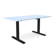 "Height Adjustable 30""x 60"" Ergonomic Business Desk - Folkstone Grey"