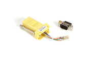 Black Box Modular Adapter Kit DB9M To RJ45F w/ Thumbscrews Yellow FA4509M-YE