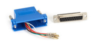 Black Box Modular Adapter Kit DB25F To RJ45F w/ Thumbscrews Blue FA4525F-BL