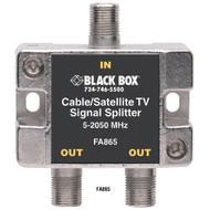 Black Box Cable/Satellite TV Signal Splitter 2-GHz 1???2 FA865