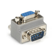 Black Box DB9 Right-Angle Adapter Male/Female With Cable Exit FA880