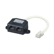 Black Box Cat5E Cable Adapter Doubler 1 RJ45 Male/2 RJ45 Female FAU962