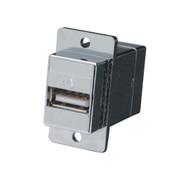 Black Box USB Panel Mount Adapter Type A F/Type B F FAUSB31