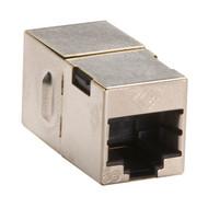 Black Box CAT5e Coupler, Shielded, Straight-Pin, Silver, 10-Pack FM508-R2-10PAK