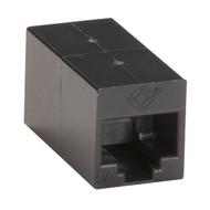 Black Box Cat5E Unshielded Straight-Pin Coupler Black FM509