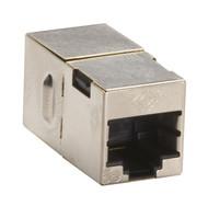Black Box Cat5E Shielded CroSS-Pin Coupler Silver FM568-R2