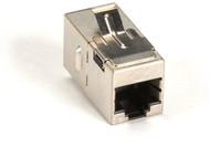 Black Box Cat5E Shielded Straight-Pin Keystone Coupler Silver FM593