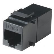 Black Box Cat6 Unshielded Straight-Pin Keystone Coupler Black FM692