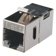 Black Box Cat6 Shielded Straight-Pin Keystone Coupler Silver FM693