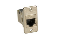 Black Box Panel Mount Cat6 Shielded Coupler Silver FMT1021