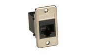 Black Box Panel Mount RJ11 4-Wire Unshielded Coupler Black FMT1080