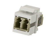 Black Box Snap Fitting Keystone LC Adapter White FMT357-R3