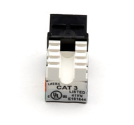 Black Box Cat3 Unshielded Keystone Jack Black FMT365-R2