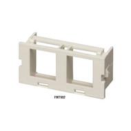 Black Box Surface-Mount Housing Adapter Bezel 2-Port Office White FMT902
