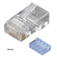 Black Box RJ11 Unshielded Modular Plug 6-Wire 100-Pack FMTP6-R2-100PAK