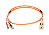 Black Box 1m (3.2ft) STSC OR OM2 MM Fiber Patch Cable INDR Zip OFNR FO50-001M-STSC