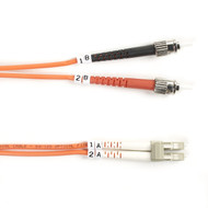 Black Box 3m (9.8ft) STLC OR OM2 MM Fiber Patch Cable INDR Zip OFNR FO50-003M-STLC