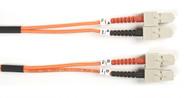 Black Box 2m (6.5ft) SCSC OR OM1 MM Fiber Patch Cable INDR Zip OFNR FO625-002M-SCSC