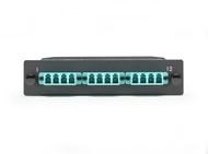 Black Box MTP OM3 Fiber Optic LGX Cassette (1) MTP 12 to (12) LC Type A FOCA20M3-1MP12-12LC