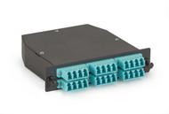 Black Box MTP OM3 Fiber Optic LGX Cassette (2) MTP 12 to (24) LC Type A FOCA20M3-2MP12-24LC