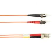 Black Box 20m (65.6ft) STLC OR OM1 MM Fiber Patch Cable INDR Zip OFNR FOCMR62-020M-STLC-OR
