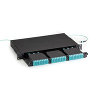 Black Box Fiber Optic High Density MTP Enclosure 3 Slot 1U FOEN50HD-3H-1U