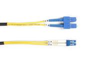 Black Box 1m (3.2ft) SCLC YL OS2 SM Fiber Patch Cable INDR Zip OFNR FOSM-001M-SCLC