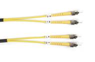 Black Box 1m (3.2ft) STST YL OS2 SM Fiber Patch Cable INDR Zip OFNR FOSM-001M-STST
