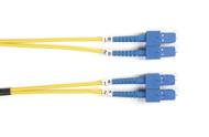 Black Box 2m (6.5ft) SCSC YL OS2 SM Fiber Patch Cable INDR Zip OFNR FOSM-002M-SCSC