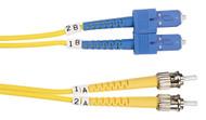 Black Box 2m (6.5ft) STSC YL OS2 SM Fiber Patch Cable INDR Zip OFNR FOSM-002M-STSC