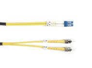 Black Box 10m (32.8ft) STLC YL OS2 SM Fiber Patch Cable INDR Zip OFNR FOSM-010M-STLC