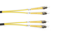 Black Box 10m (32.8ft) STST YL OS2 SM Fiber Patch Cable INDR Zip OFNR FOSM-010M-STST