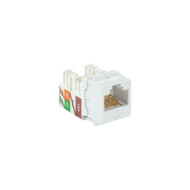 Black Box 25-Pack White CAT6A Keystone Jack Unshielded RJ45 C6AJA70-WH-R2-25PAK