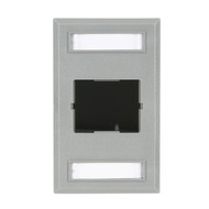Black Box Wallplate Single-Gang 1-Slot Gray FT192GR