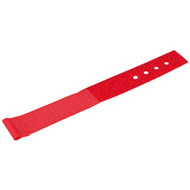 "Black Box Hook and Loop Lite Cable Wraps, 1"" x 6"", 10-Pack, Red FT9381"