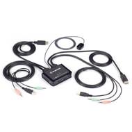Black Box 2-Port 4K60 DisplayPort Cable KVM Switch KV62-CBL