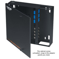 Black Box Wallmount Fiber Enclosure Non-Locking, 4-Slot JPM401A-R2