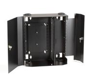 Black Box Wallmount Fiber Enclosure Locking, 12-Slot JPM403A-R2