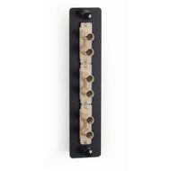Black Box Fiber Adapter Panel Low Density 3 ST Duplex Ceramic Beige JPM450B