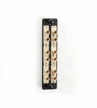Black Box Fiber Adapter Panel High Density 6 ST Duplex Ceramic Beige JPM460B