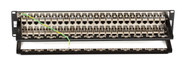 Black Box CAT6 Patch Panel, Feed-Through, 2U, Shielded, 48-Port JPM816A