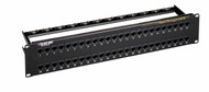 Black Box 48-Port CAT6 Feed-Through Patch Panel, 2U, Unshielded JPM820A